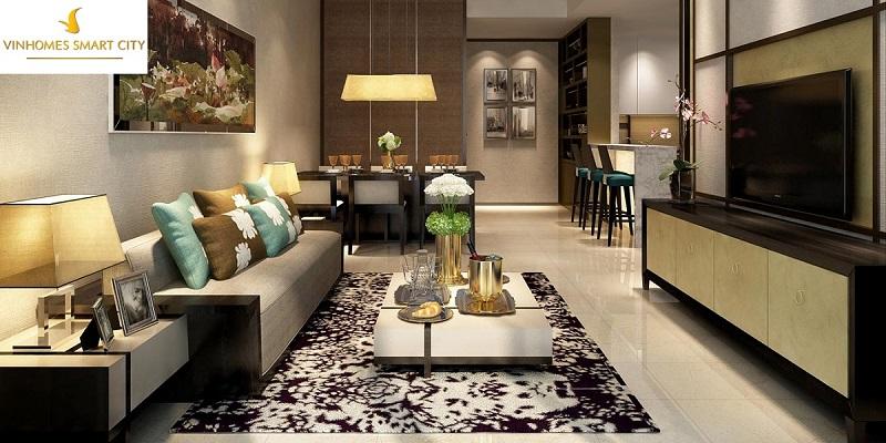 Nội thất căn hộ chung cư Vinhomes Smart City Nguyễn Trãi