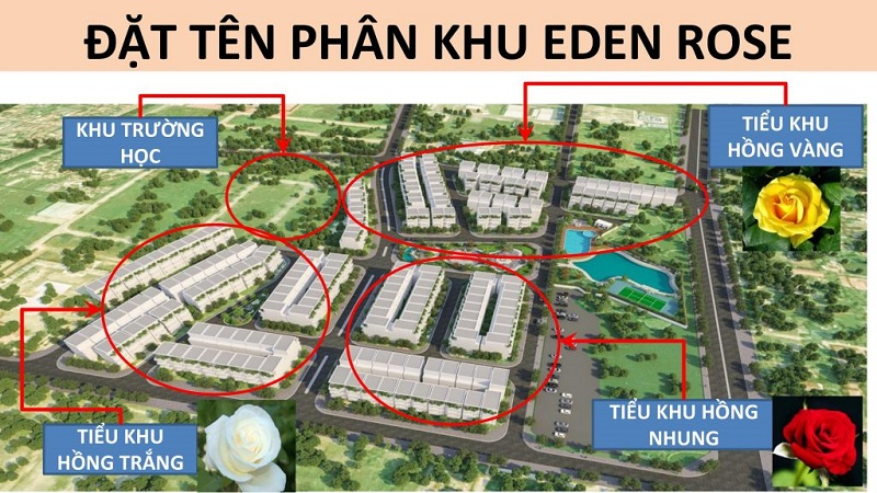 Phân khu liền kề biệt thự The Eden Rose Nguyễn Xiển