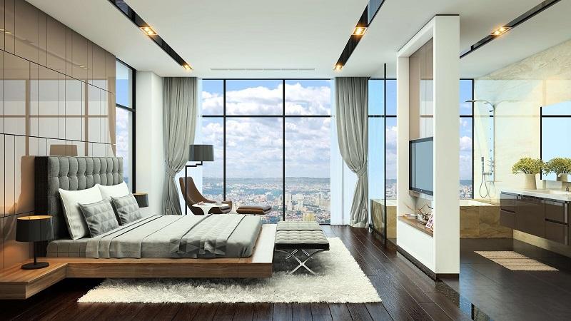 Phòng ngủ chung cư Grandeur Palace Phạm Hùng - Mỹ Đình