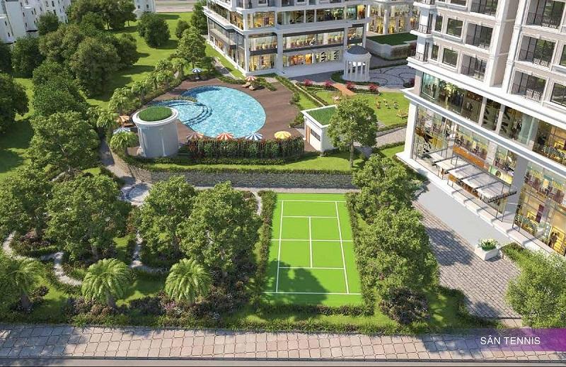 Sân tennis chung cư Iris Garden Mỹ Đình