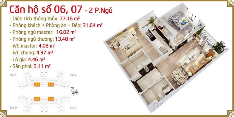 Thiết kế căn 06-07 Imperia Sky Garden 423 Minh Khai