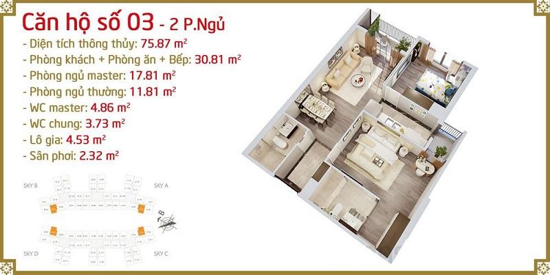 Thiết kế căn 03 Imperia Sky Garden 423 Minh Khai