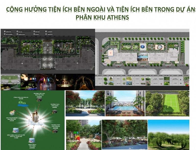 Tiện ích cao cấp Phân khu Larissa dự án Athena Fulland Đại Kim
