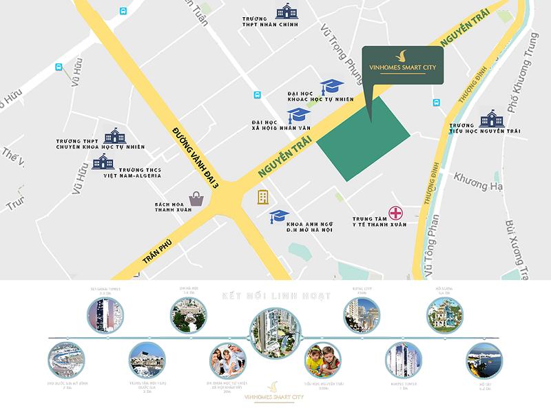 Kết nối chung cư Vinhomes Smart City Nguyễn Trãi