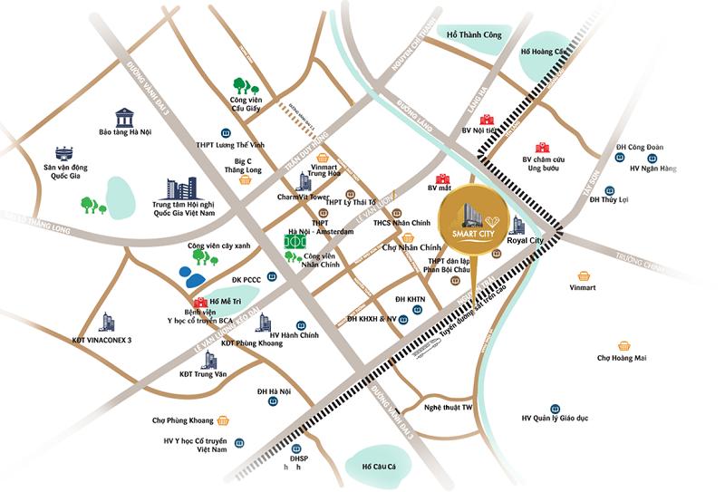 Vị trí chung cư Vinhomes Smart City Nguyễn Trãi