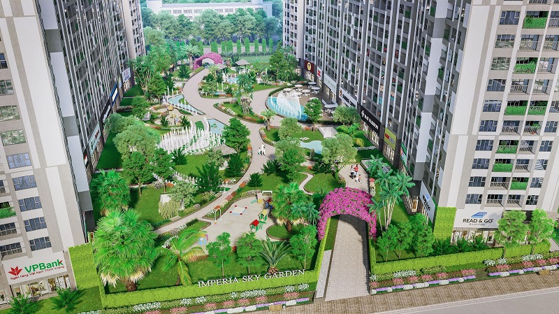 Vườn treo Imperia Sky Garden 423 Minh Khai