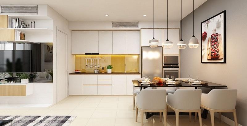 Nội thất phòng bếp dự án chung cư T&T 273 Tây Sơn