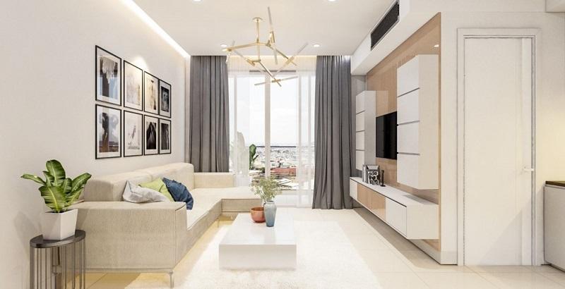 Nội thất phòng khách dự án chung cư T&T 273 Tây Sơn