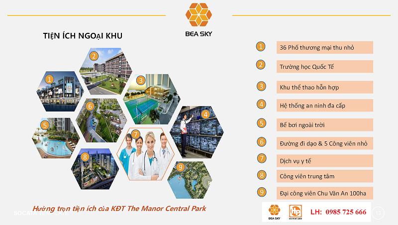 Tiện ích ngoại khu Bea Sky Nguyễn Xiển