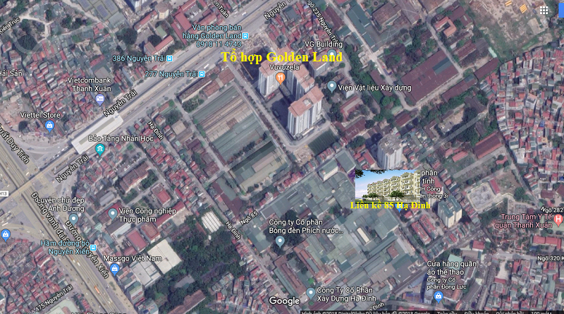 Vị trí liền kề 85 Hạ Đình - Thanh Xuân
