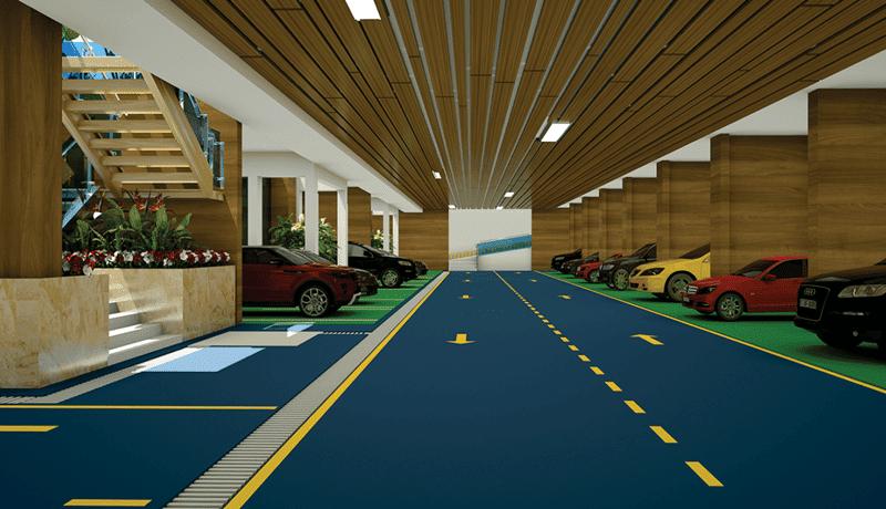 Hầm để xe dự án biệt thự La Casa Villa 25 Vũ Ngọc Phan