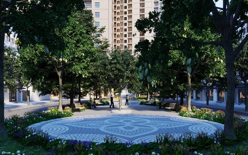 Khuôn viên dự án Aurora Garden Vimefulland Yên Sở