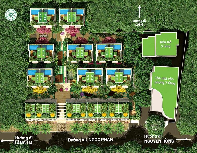 Mặt bằng tổng thể dự án biệt thự La Casa Villa 25 Vũ Ngọc Phan