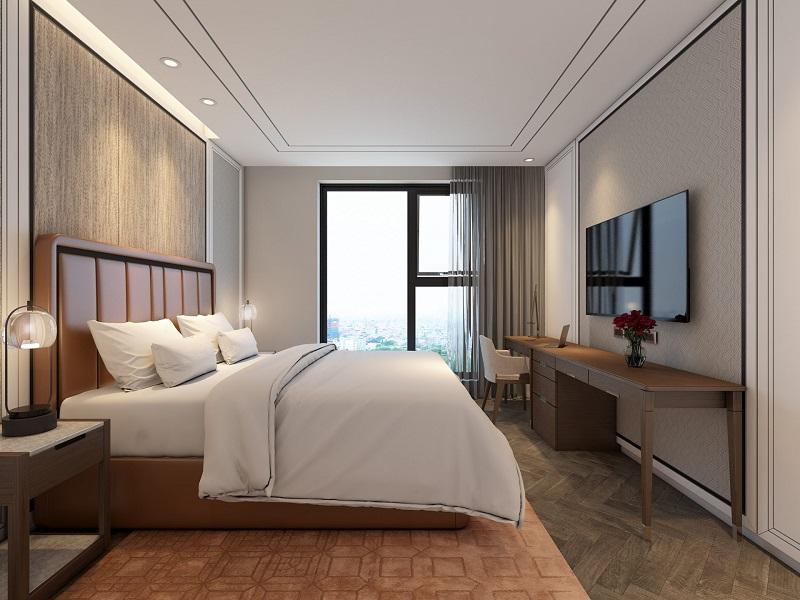 Nội thất phòng ngủ master chung cư King Palace 108 Nguyễn Trãi