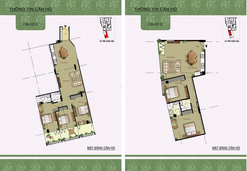 Thiết kế căn hộ 01-02 dự án Núi Trúc Square 17 Ngõ Núi Trúc
