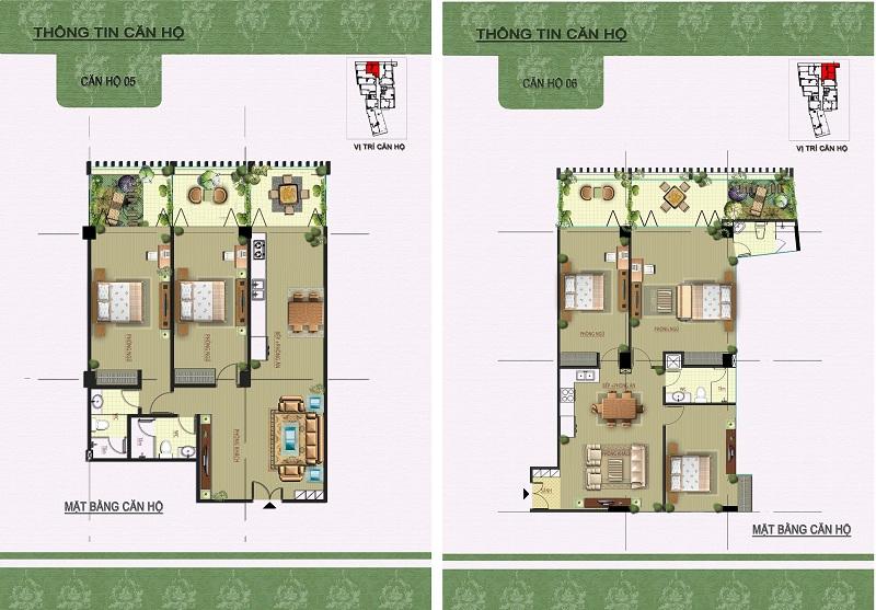 Thiết kế căn hộ 05-06 dự án Núi Trúc Square 17 Ngõ Núi Trúc