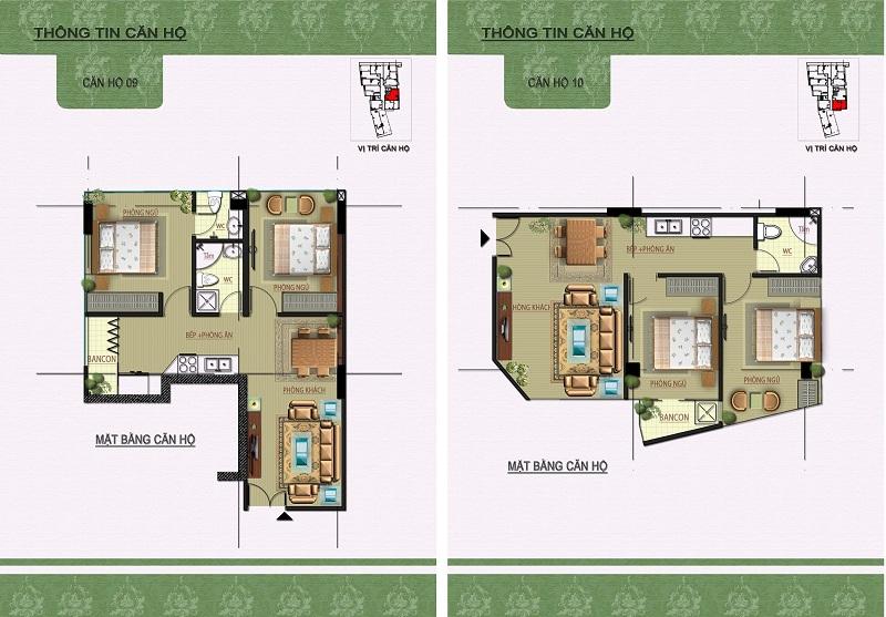 Thiết kế căn hộ 09-10 dự án Núi Trúc Square 17 Ngõ Núi Trúc