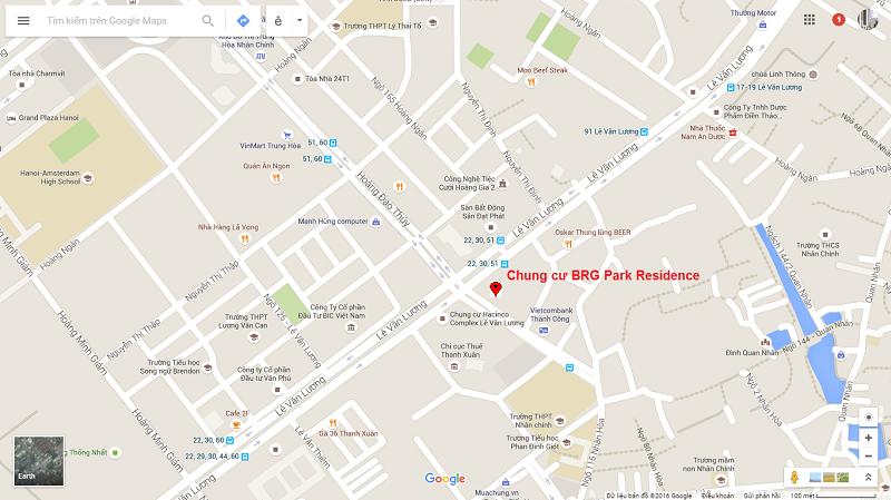 Vị trí dự án BRG Park Residences 41 Lê Văn Lương