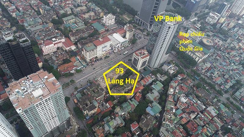Vị trí dự án chung cư 93 Láng Hạ