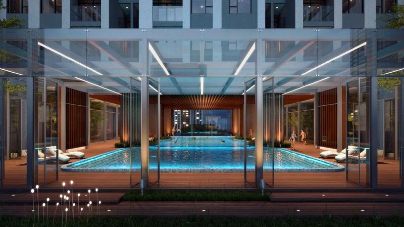 Bể bơi bốn mùa dự án the ZEI Mỹ Đình - 8 Lê Đức Thọ