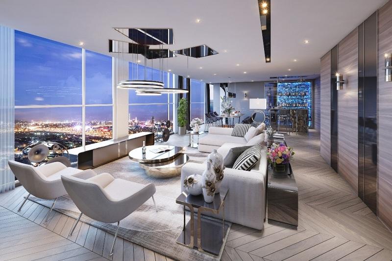 Thiết kế căn hộ penthouse dự án the ZEI Mỹ Đình - 8 Lê Đức Thọ