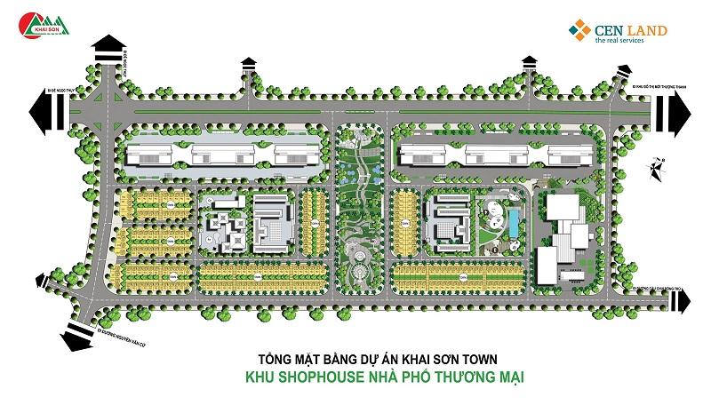 Mặt bằng Shophouse dự án Khai Sơn Town Long Biên