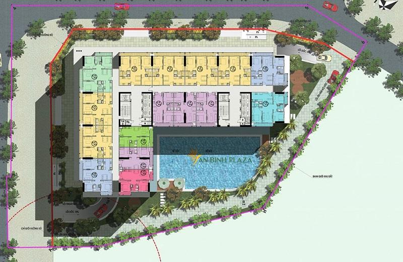 Mặt bằng căn hộ An Bình Plaza 97 Trần Bình
