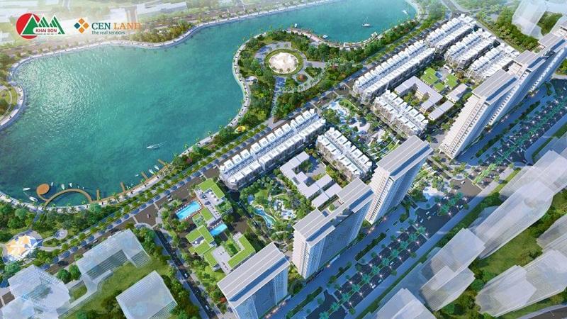 Phối cảnh dự án nhà phố Khai Sơn Town