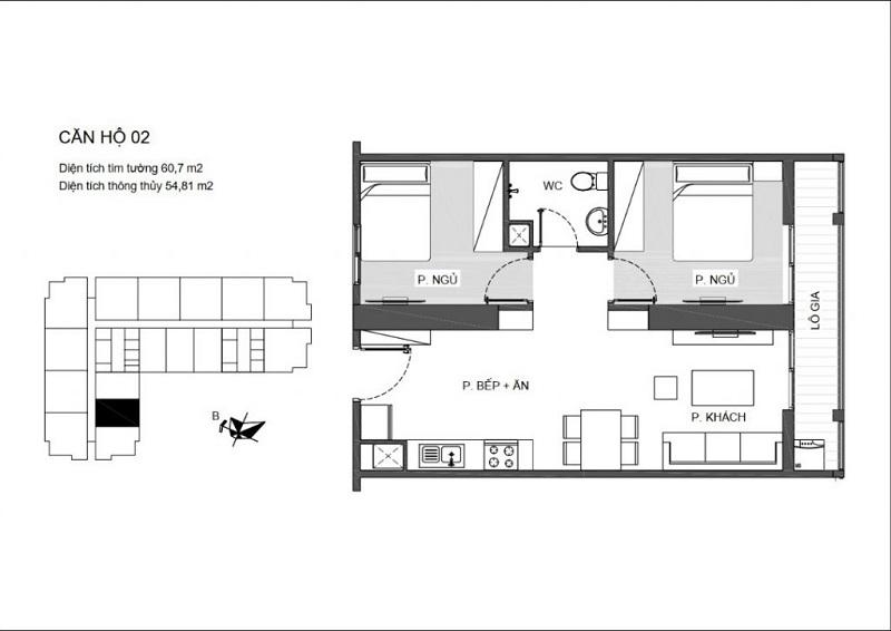 Thiết kế căn hộ 02 An Bình Plaza 97 Trần Bình