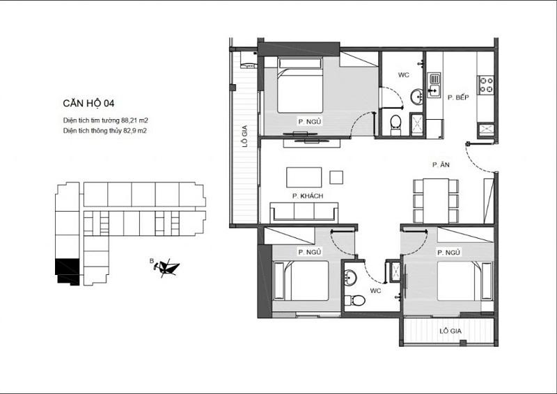 Thiết kế căn hộ 04 An Bình Plaza 97 Trần Bình