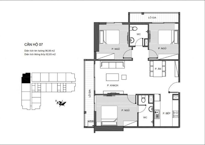 Thiết kế căn hộ 07 An Bình Plaza 97 Trần Bình