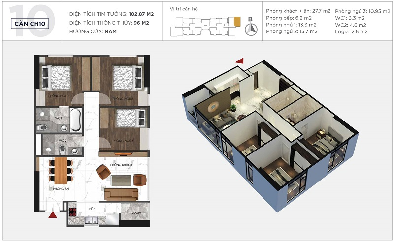 Thiết kế căn hộ 10 tòa S2 Sunshine City Ciputra Tây Hồ