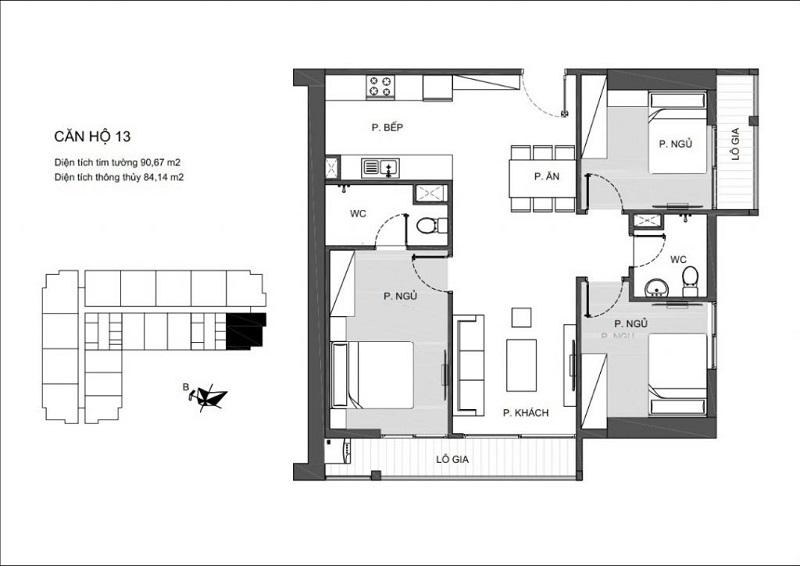 Thiết kế căn hộ 13 An Bình Plaza 97 Trần Bình