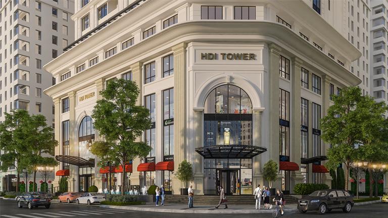Trung tâm thương mại chung cư HDI Tower 55 Lê Đại Hành