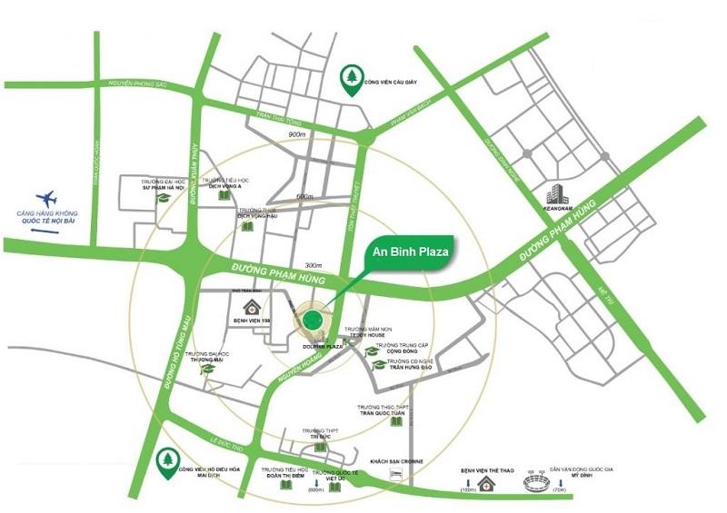 Vị trí An Bình Plaza 97 Trần Bình