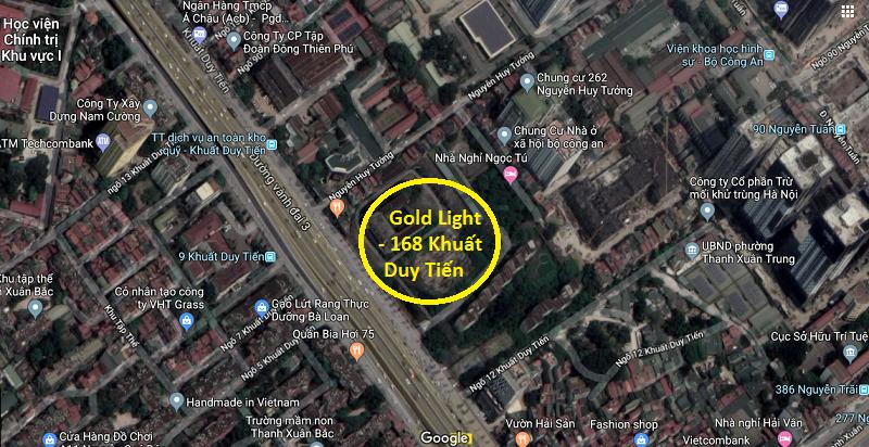 Vị trí dự án chung cư Goldlight 168 Khuất Duy Tiến