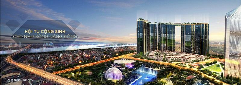 View sông Hồng từ dự án Sunshine City Tây Hồ