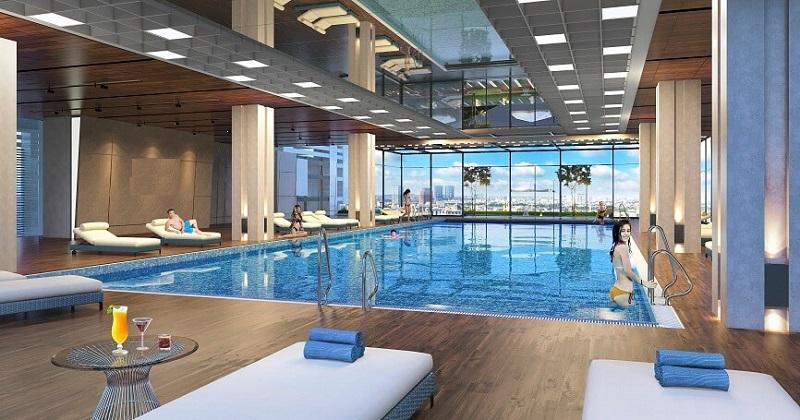 Bể bơi chung cư San Raffels 22-24 Hàng Bài