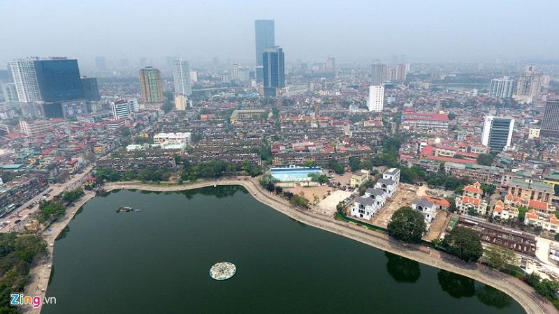Công viên hồ Thành Công cạnh BRG Grand Plaza 16 Láng Hạ