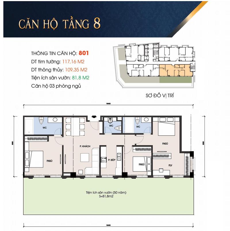 Thiết kế căn hộ 801 chung cư 30A Lý Thường Kiệt