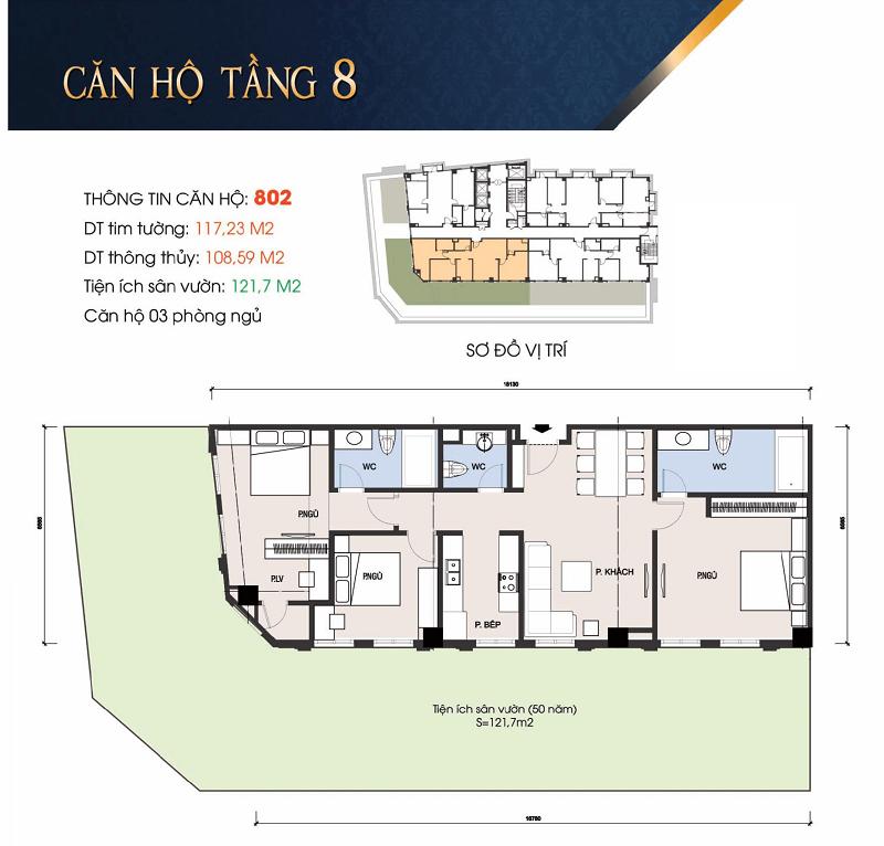 Thiết kế căn hộ 802 chung cư 30A Lý Thường Kiệt