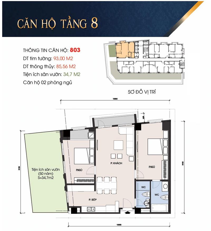 Thiết kế căn hộ 803 chung cư 30A Lý Thường Kiệt