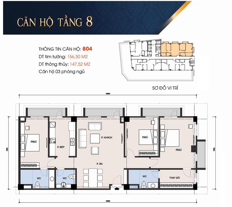Thiết kế căn hộ 804 chung cư 30A Lý Thường Kiệt