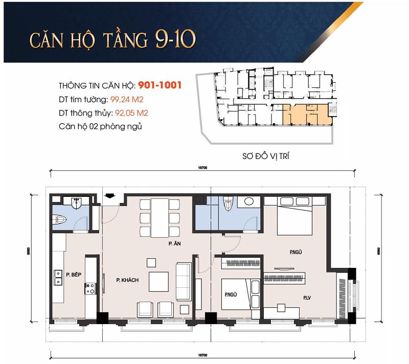 Thiết kế căn hộ 901 chung cư 30A Lý Thường Kiệt