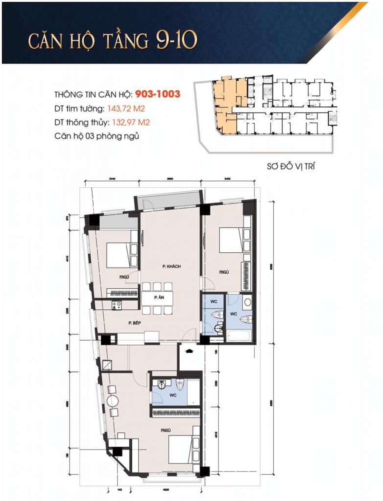 Thiết kế căn hộ 903-1003 chung cư 30A Lý Thường Kiệt