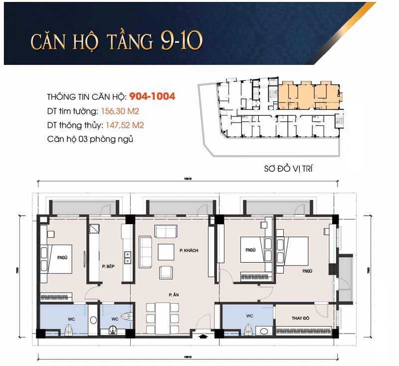 Thiết kế căn hộ 904-1004 chung cư 30A Lý Thường Kiệt