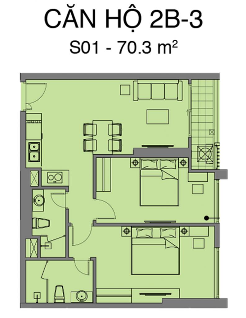 Thiết kế căn S01 dự án Mipec Rubik 360 Xuân Thủy