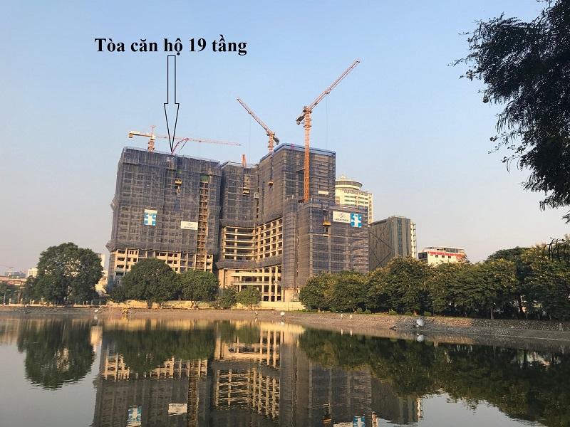 Tiến độ thi công chung cư BRG Grand Plaza 16 Láng Hạ