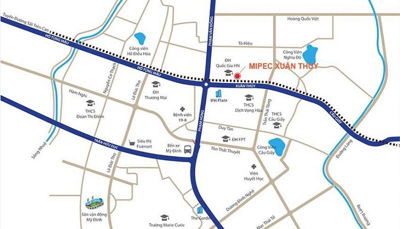 Vị trí Mipec 122 Xuân Thủy Plaza - Cầu Giấy