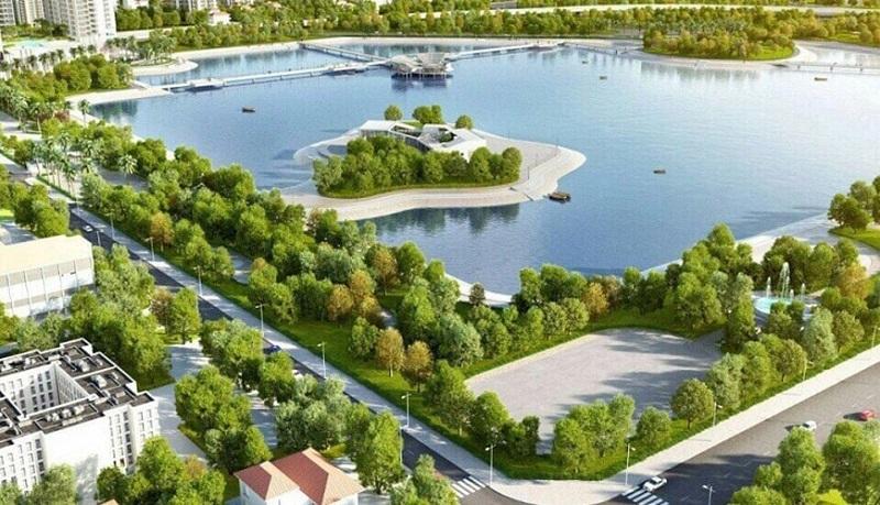 Hồ điều hòa dự án An Lạc Green Symphony khu đô thị Vân Canh